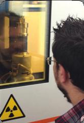 Оснастка для тестирования прочности Deben CT5000, установленная в центре технологий неразрушающего контроля Nikon на базе университета Portsmouth.