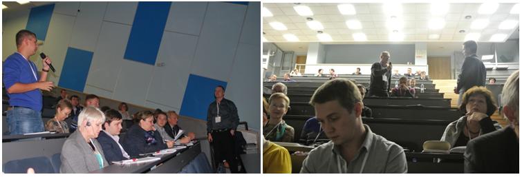 Во время конференции участники активно задавали вопросы спикерам, узнавали детали и особенности применения компьютерной томографии