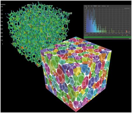 Модуль позволяет визуализировать ячейки пенистых материалов или структур и рассчитывать их свойства