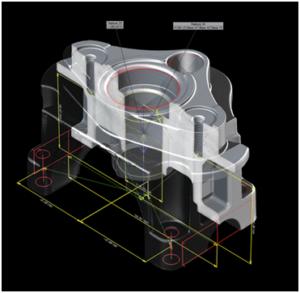 Модуль координатных измерений позволяет легко применить общепринятую систему расстановки размеров для воксельных данных