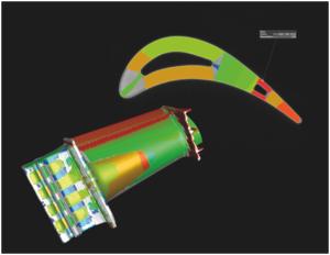 Цветовая кодировка результатов анализа толщины стенок